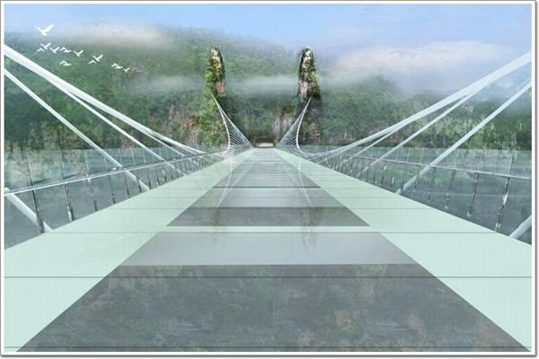 张家界天山门玻璃栈道和大峡谷玻璃桥区别小贴士图片